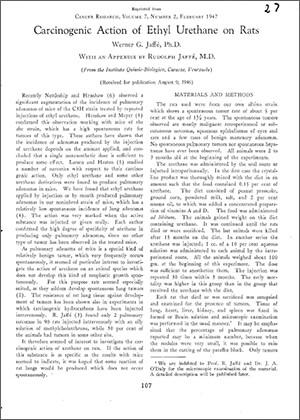 Carcinogenic Action of Ethyl Urethane on Rats