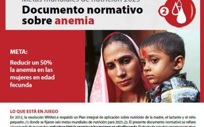 Documento normativo sobre anemia