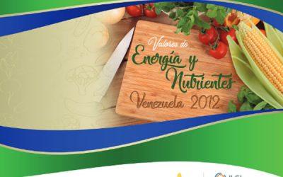 Valores de Energía y Nutrición. Venezuela 2012